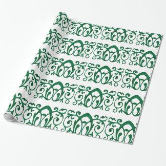 """Papel de embalaje verde del batik de Fleur, 30"""" x"""