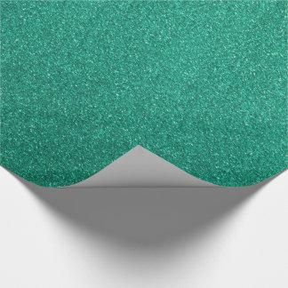 Papel de embalaje verde del purpurina