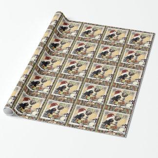 Papel de embalaje viejo del perro de la moda papel de regalo