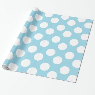 Papel de envoltorio para regalos azul y blanco del