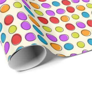 Papel de envoltorio para regalos coloreado retro papel de regalo