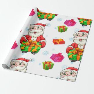 Papel de envoltorio para regalos de Papá Noel