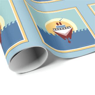 Papel de envoltorio para regalos del barco de papel de regalo