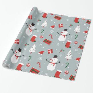 Papel de envoltorio para regalos del navidad
