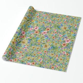 Papel de envoltorio para regalos floral bonito