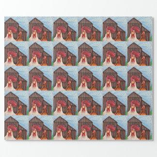 Papel de envoltorio para regalos gótico del corral papel de regalo