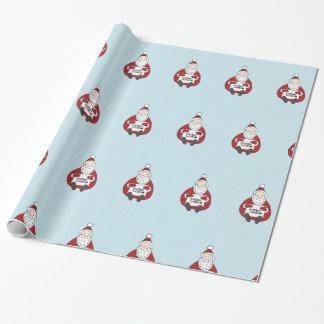 Papel de envoltorio para regalos lindo del navidad