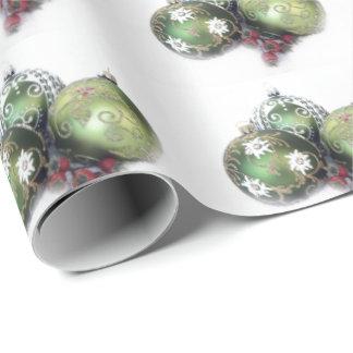 Papel de envoltorio para regalos verde de la