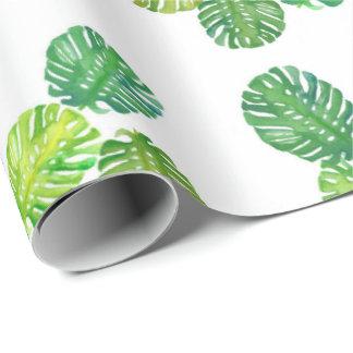 Papel de envoltorio para regalos verde de la selva