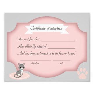 papel de la certificación del fiesta de la foto