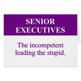 """Papel de la tutoría de ejecutivos """"senior"""" (2) tarjeta pequeña"""