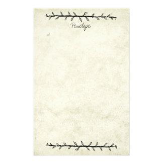 Papel de libro viejo de la frontera de la vid del