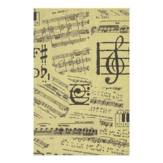 Papel de música viejo 2