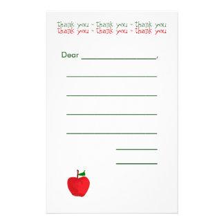 Papel de nota en blanco alineado de los niños papelería