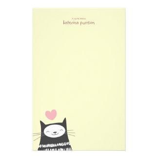 Papel de nota feliz de Personalizable del gato de