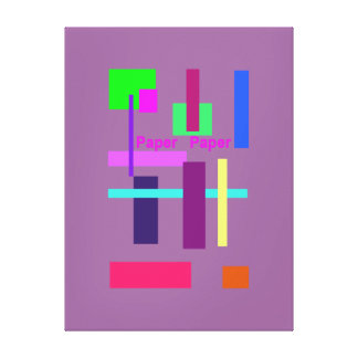 Papel de papel lienzo envuelto para galerías