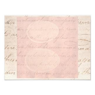 Papel de pergamino colonial de la escritura del arte fotográfico