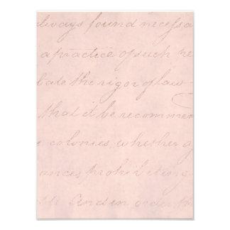 Papel de pergamino colonial de la escritura del cojinete