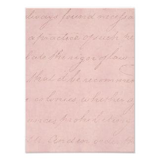 Papel de pergamino color de rosa colonial del fotografías
