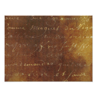 papel de pergamino francés de la escritura del arte fotográfico