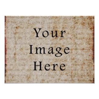 Papel de pergamino marrón claro del texto de la es impresion fotografica