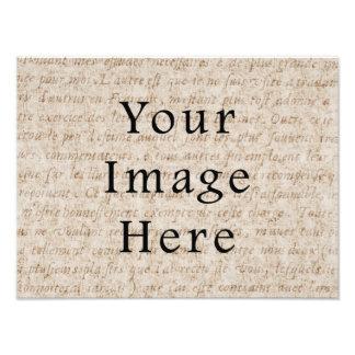 Papel de pergamino marrón claro del texto de la es impresiones fotograficas