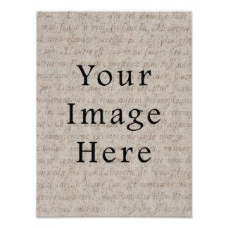 Papel de pergamino pálido del texto de la escritur foto