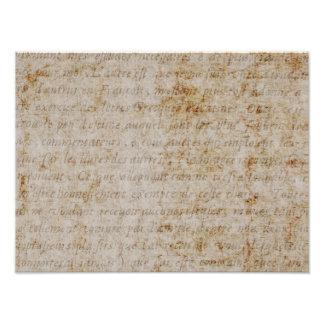 Papel de pergamino viejo del texto del moreno de arte fotográfico