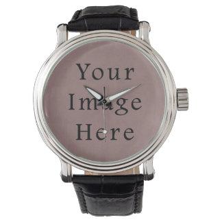 Papel de pergamino violeta púrpura del rosa color relojes de mano