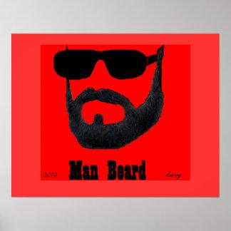 Papel de poster del valor de la barba del hombre (