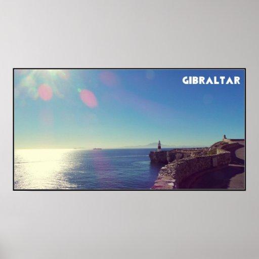 Papel de poster del valor del faro de Gibraltar (m