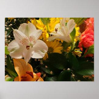 Papel de poster floral bonito del valor - mate