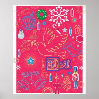 Papel de poster icónico del valor del navidad