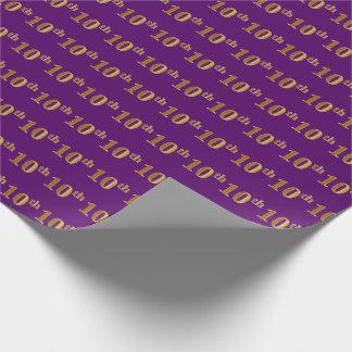 Papel De Regalo 10mo (décimo) acontecimiento del oro púrpura,