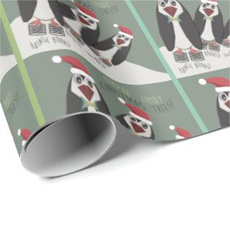 Papel De Regalo 3 pingüinos elásticos divertidos