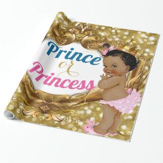 Papel de regalo africano del príncipe o de