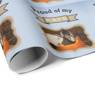 Papel De Regalo Añada su rata de la foto de las ratas del mascota