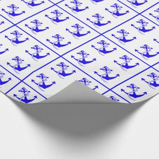 Papel De Regalo Anclas náuticas de las naves modeladas