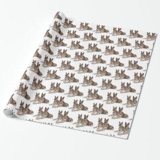 Papel De Regalo Arte del perro de pastor alemán