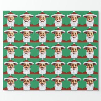 Papel De Regalo Arte pop chino de las Felices Navidad de Mao Papá