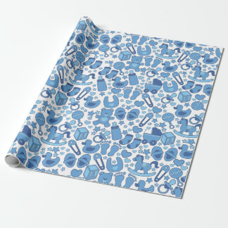 Papel De Regalo Azul adaptable, Bebé-Temático