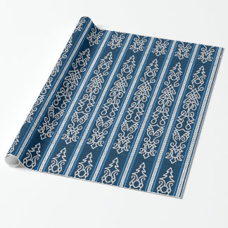 Papel De Regalo Azul del modelo de Viking