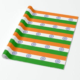 Papel De Regalo ¡Bajo costo! Bandera de la India
