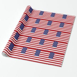 Papel De Regalo Bandera americana - barras y estrellas - vieja