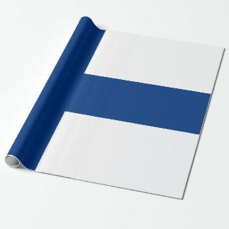 Papel De Regalo Bandera de la bandera cruzada azul de Finlandia