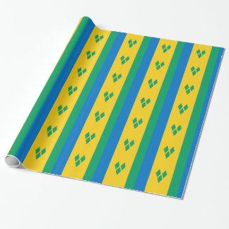 Papel De Regalo Bandera de San Vicente y las Granadinas