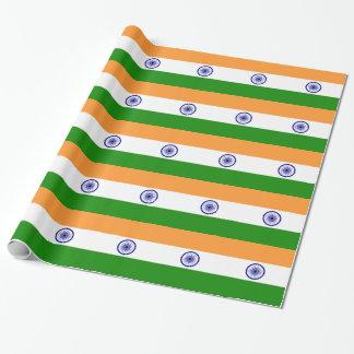 """Papel De Regalo Bandera india """"Tiranga """" del buen color"""