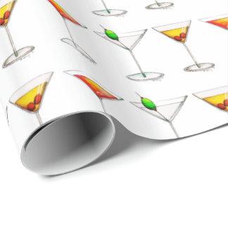 Papel De Regalo Bebidas del vidrio de cóctel de Cosmo Martini