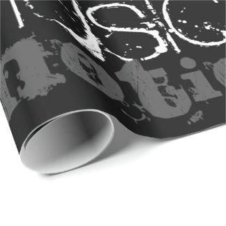 Papel De Regalo Papel de regalo blanco y negro de la inspiración