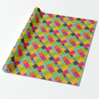 Papel De Regalo bloques huecos rosados